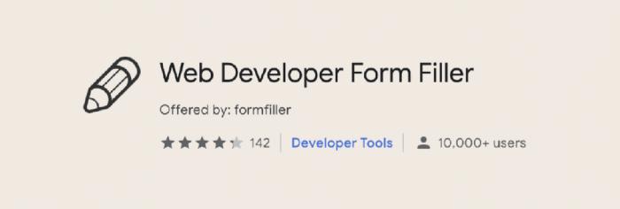 Web Developer Form Filler